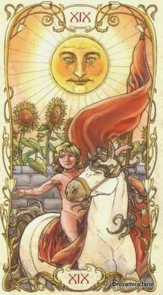 The Sun - Tarot Mucha by Lunaea Weatherstone