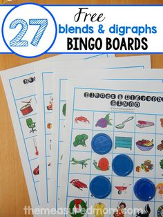This blends and digraphs game is so much fun! Print just a handful or all 27 boards for a class game. The best part is that every blend is on every board, so your students know if they hunt hard enough, they'll find it! Phonics Reading, Teaching Phonics, Phonics Activities, Kindergarten Literacy, Literacy Activities, Teaching Reading, Kids Learning, Literacy Stations, Early Literacy