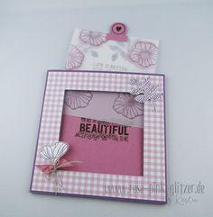 www.rosa-pink-glitzer.de: Ein paar neue Stampin up Stempel ausprobiert: Bunt gemischt, Just add Text, Circle Tab - und alles zusammen ergibt eine MagicCard