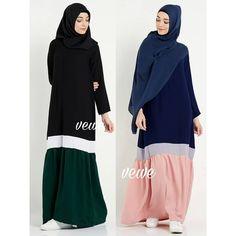Cutting in side. Street Hijab Fashion, Abaya Fashion, Modest Fashion, Fashion Outfits, Womens Fashion, Hijab Style Dress, Hijab Chic, Hijab Outfit, Moslem Fashion