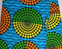 African fabric by the Yard record Ankara fabric African Fabric Shop African Textile African Supplies for dress skirt headtie wax print The Purple, Orange And Turquoise, Green And Orange, African Textiles, African Fabric, African Prints, Skirt White, Toddler Quilt, Ankara Fabric