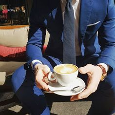 Was it really the weekend if your didn't do brunch? Slim Tie, Professional Attire, Tie And Pocket Square, Skinny Ties, Black Cotton, Blue Suits, Mens Fashion, Dapper, Brunch