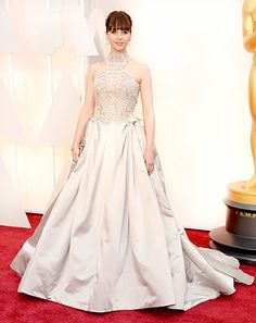 Felicity Jones-Alexander McQueen This dress was beautiful and photographed beautifully; the skirt needed just a little less fabric though.