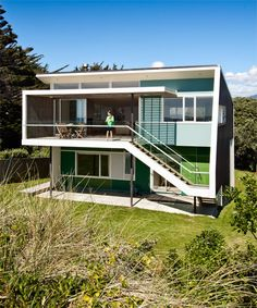 49 Best Ts House Ideas Images Arquitetura Beach Cottages Beach - Spend-hot-summers-and-views-in-a-beach-house-designed-by-parsonson-architects
