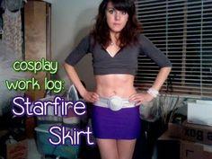 Cosplay Work Log: Starfire Skirt