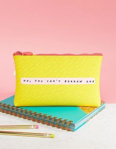 Notes To Self No You Can't Borrow One Jelly Pencil Case - Multi