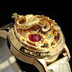 World's first gold bangle equipped with tourbillon movement made of 999.9 Gold.