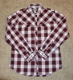 Express Men's size Large Vintage Western Rockabilly shirt snap buttons
