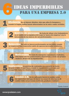 6 ideas imperdibles para una empresa 2.0.