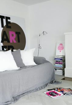 ART. BEHIND THE COUCH