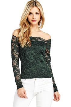 Ambiance Women's Crop Lace Off-Shoulder Long Sleeve Top Fashion Models, Girl Fashion, Fashion Outfits, Good Looking Women, Popular Outfits, Gorgeous Blonde, Sexy Shirts, Lace Tops, Cute Casual Outfits