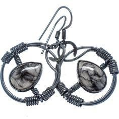 """Pinolith Jasper 925 Sterling Silver Earrings 1 3/4"""" EARR330225"""