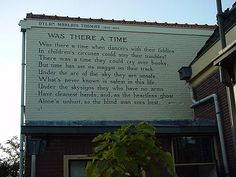 """""""Was there a time"""" as a wall poem in Leiden, Netherlands (first published in Twenty-Five Poems, Image Credit: Biccie Wall Writing, Writing Poetry, Dylan Thomas Poems, Poems In English, William Carlos Williams, Inspirational Books, Classic Books, The World's Greatest, Rotterdam"""