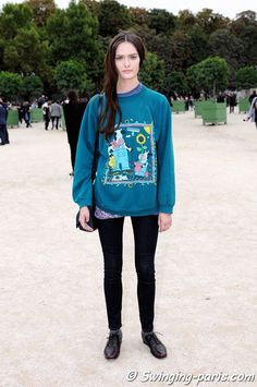 Sam Rollinson outside Valentino show, Paris S/S 2014 RtW Fashion Week, October 2013