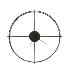 Lettin - Black Modern Clock | The Fancy Place Led Wall Lamp, Wall Sconce Lighting, Modern Clock, Modern Wall, Scandinavian Pendant Lighting, Minimalist Design, Modern Design, Minimalist Wall Clocks, Oversized Clocks
