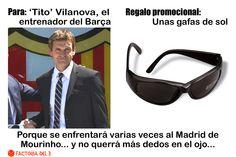 ¿Qué le regalarías a Tito Vilanova, entrenador del F.C. Barcelona?