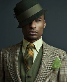 Cool Men's Fashion Looks  #men #mens #male #fashion #looks #sexy #hat #hats #suit #tie #ties #green #tan #great #style #styles #mensfashion #dapper #guy #guys #guysfashion #cool #hot   www.gmichaelsalon.com