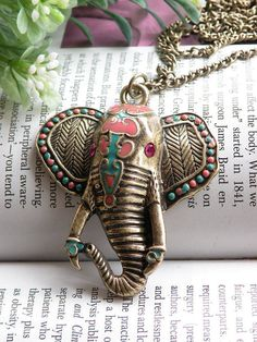 #elephant necklace