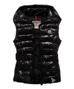Moncler Classic Sleeveless Vests Women Lapel Black [2781488] - £117.11 :