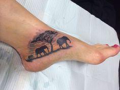 Elephant footprints tattoo - photo#11