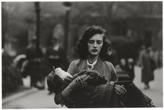 Diane Arbus, Woman Carrying a Child in Central Park, N.Y.C., 1956.