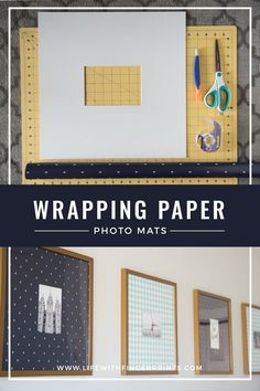 Wrapping Paper Photo Mats