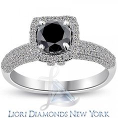 1.93 Carat Certified Black Diamond Engagement Ring.. Pretty sure this is THE ONE!!!