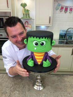 Halloween Wee Frankie - Cake by Paul Bradford Sugarcraft School