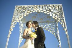 PORTFOLIO - Chuppah Studio modern lace chuppah. At once modern and vintage feeling, perfect for The Wythe hotel