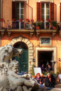 Afternoon at Piazza Navona, Rome, Italy