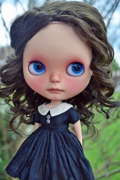 Blythe Doll Re-rooted Wool Scalp By Pariszhenpink Brown Curly Beautiful | eBay