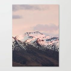 Sunrise Mountains - Nature Landscape Photography Canvas Print by joshuasmallphotography | Society6
