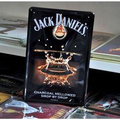 "Vintage Metal Sign ""Jack Daniel's"" Wall Plaque Decor"