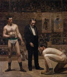 And saw the skull beneath the skin. — artist-eakins:  Taking the Count via Thomas...