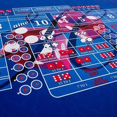 Custom Dark Blue Craps layout� ����� Wanna see more?  We sell tons of cool casino supplies online.  Link in our bio!
