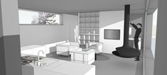Innenraum Detached House, Room Interior, Architecture, Projects