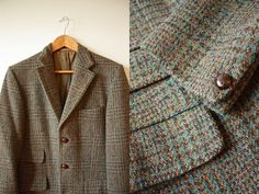 This handsome Dunn & Co. sportcoat is made of 100% Harris