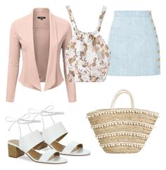 """Spring 2017:4"" by lauranoue on Polyvore featuring mode, Balmain et Tahari"