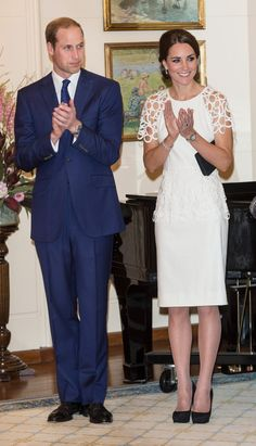 Pin for Later: We Just Keep Falling Back in Love With This Chic Pair The Royal Couple at at Government House Kate opted for a sweet Lela Rose design while joining William at a reception hosted by the Governor General Peter Cosgrove at Government House.