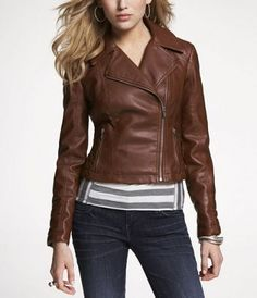 Express (MINUS THE) LEATHER QUILTED MOTO JACKET COLOR: Cognac or Espresso Size: Small $58.80 (40% off)