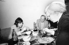 Andy Warhol, William Burroughs and Mick Jagger