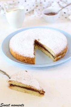 #torta #ricotta #nutella #colazione #merenda #foodblogger #foodblog #gialloblog #giallozafferano Best Italian Recipes, Dolce, Ricotta, Nutella, Grande, Cheesecake, Good Food, Anna, Group