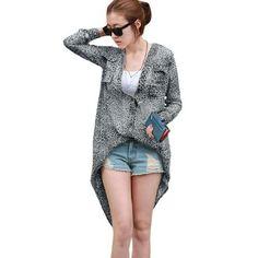 Allegra K Women V Neck Button up Long Sleeve Leopard Print Blouse Grayblue S Allegra K. $11.16