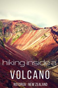 What to do in Rotorua New Zealand - hike up a volcano! Take a tour to the top of Mt Tarawera and hike inside the volcano for some stunning views and an amazing kiwi experience.