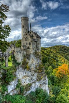 Lichtenstein castle, built on the cliff, located near Baden-Württemberg in Germany