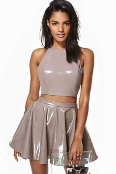 Nasty Gal Virtuosity Crop Top in Clothes Tops Cropped at Nasty Gal Sexy Outfits, Fashion Outfits, Womens Fashion, Fashion Beauty, Looks Pinterest, Vinyl Clothing, Latex Dress, Latex Outfit, Mädchen In Bikinis