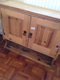 Pine cupboard and shelf unit, sold October 2014.