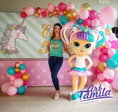 Mega muñeca unicorn de globos #lolsurprise #unicornio #ballons Birthday Diy, Birthday Party Themes, Balloon Decorations, Birthday Decorations, Lol Doll Cake, Twisting Balloons, Kids Spa, Balloons And More, Doll Party