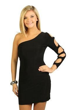 cut out designed one shoulder bodycon dress