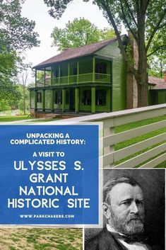 Travel information and itinerary for Ulysses S. Grant National Historic Site in St. Louis Missouri Family Road Trips, Road Trip Usa, National Park Passport, National Parks, Usa Travel Guide, Travel Usa, National Issues, Passport Stamps, Park Service